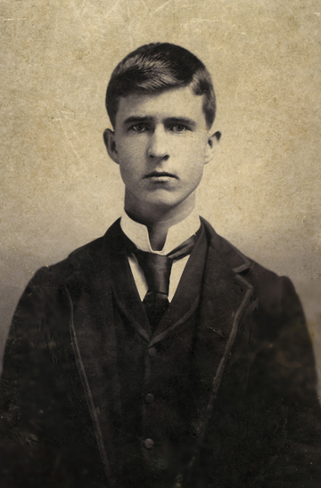 Photo of young man, ca 1890
